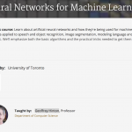 Neural Networks for Machine Learning